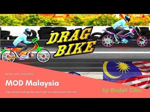 Download Drag Bike Malaysia Mod Apk 201m By Budak Ciku Drag Bike Drag Racing Games Bikes Games