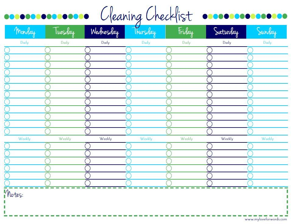 Welcome Cleaning Checklist Printable Cleaning Checklist
