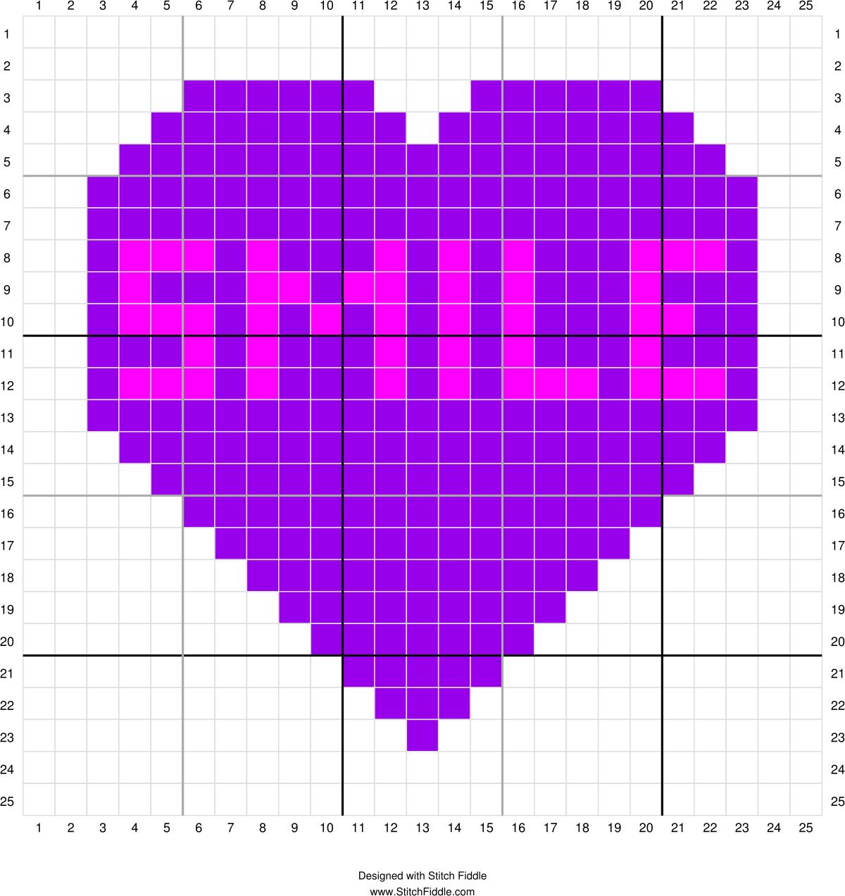 Conversation Heart Corner To Corner Graph 6