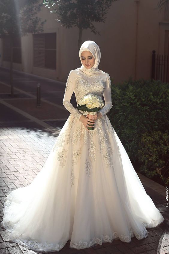Gaun pernikahan muslim | Weddings | Pinterest | Brautmode