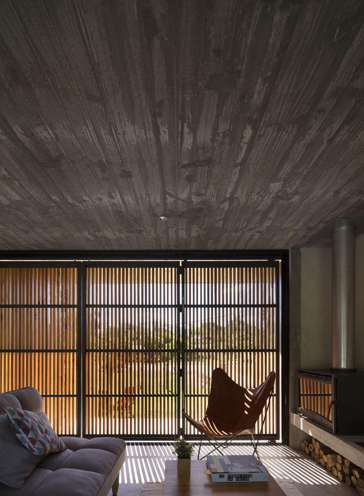 moderne Klappläden Holzlamellen Sonnenschutz Wohnzimmer #wood ...