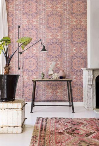 details zu vlies tapete orientalisches wandteppich muster rose rot ethno look 218034 perser. Black Bedroom Furniture Sets. Home Design Ideas
