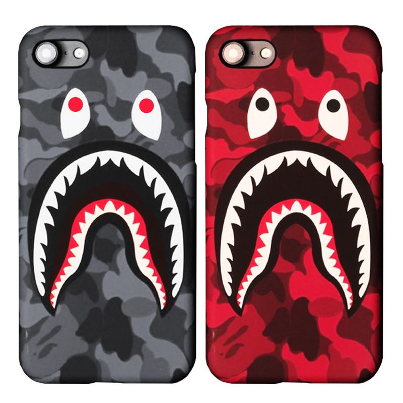 best cheap 8a01f 14a86 For iPhone 7 Case Shark Army Phone Cover Luminous Hard PC Coque For ...