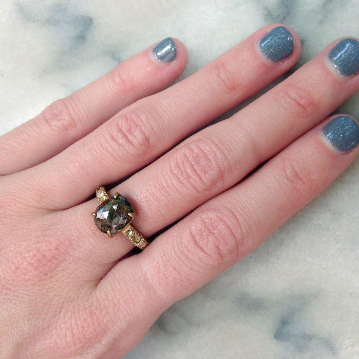 2.2 Carat Rosecut Opaque Diamond Ring | Jewelry | Pinterest | Dark ...