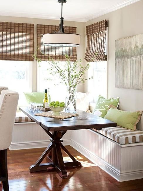 Space Saving Interior Design Ideas For Corner Kitchen Nooks And Dining Areas Banquette Seating In Kitchen Farmhouse Dining Table Dining Nook