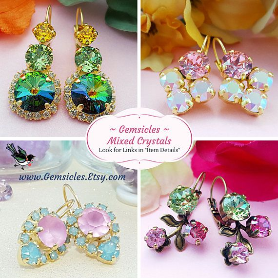 Lavender Crystal Studs Alexandrite Earrings Purple