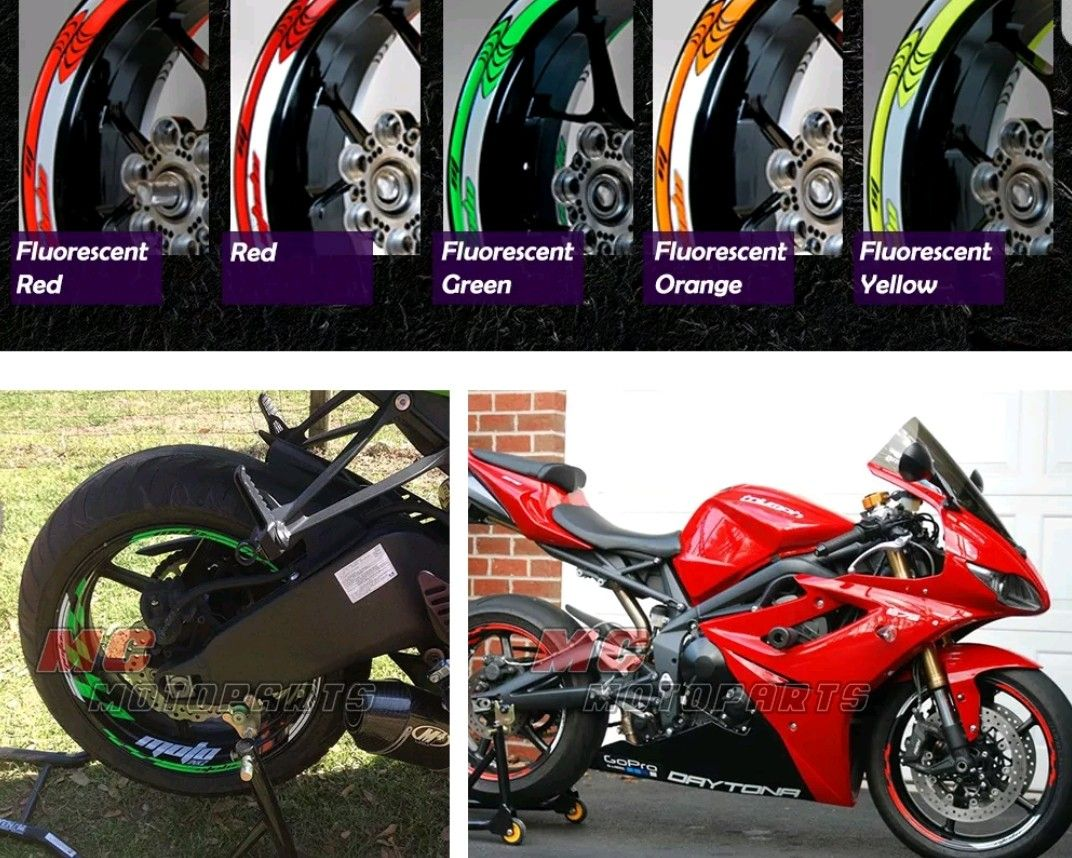 Triumph Daytona 675 Wheel Decal Set Motorbikes Triumph Daytona