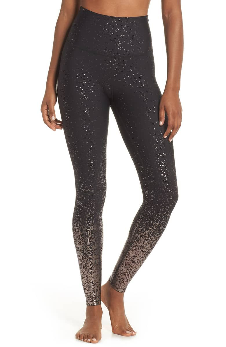 5042d3434863d7 Ombré High Waist Leggings, Main, color, BLACK GUNMETAL SPECKLE ...