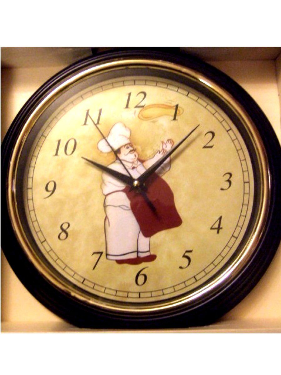 Fat Italian Chef Kitchen Wall Clock Add humor to your chef themed ...