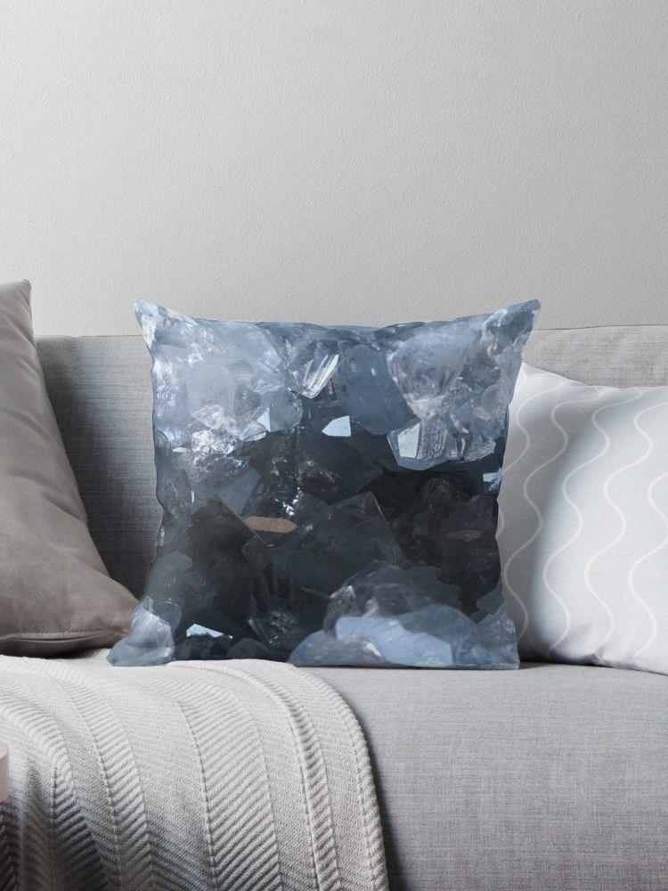 Celestite throw pillows and floor pillows • Also buy this artwork on ...