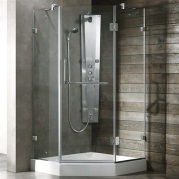 Orbitus 36 X 75 Round Sliding Shower Enclosure With Base