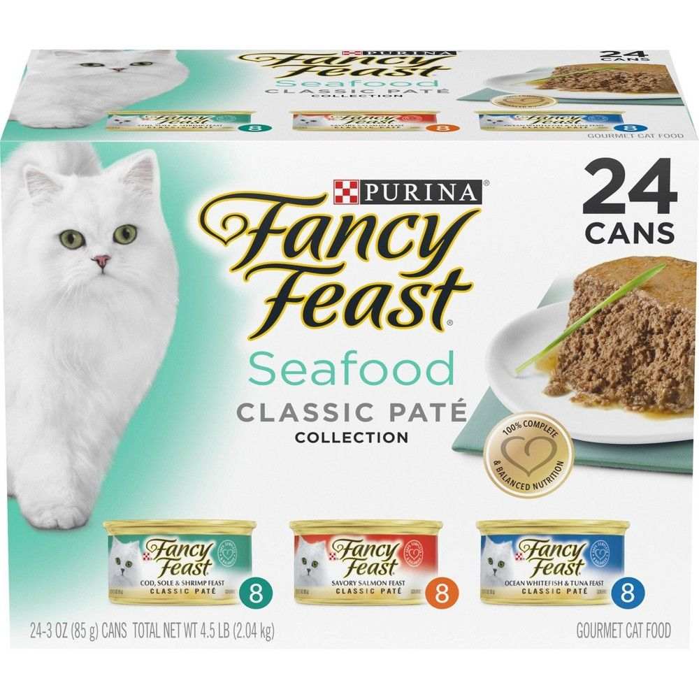Purina Fancy Feast Classic Seafood Feast Variety Wet Cat Food