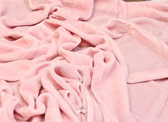 """Luz rosa alta moda seda terciopelo tapicería tela de la ropa - BTY - 44""""/ 45"""""""