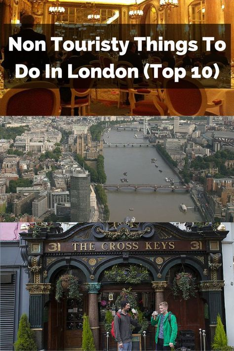 Here's our list of the very best non touristy things to do in London, for those wanting to see the city off the beaten track.