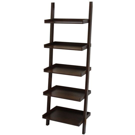 Get The Look Leaning Ladder Shelves Shelves Lowes Home Lowes Wood