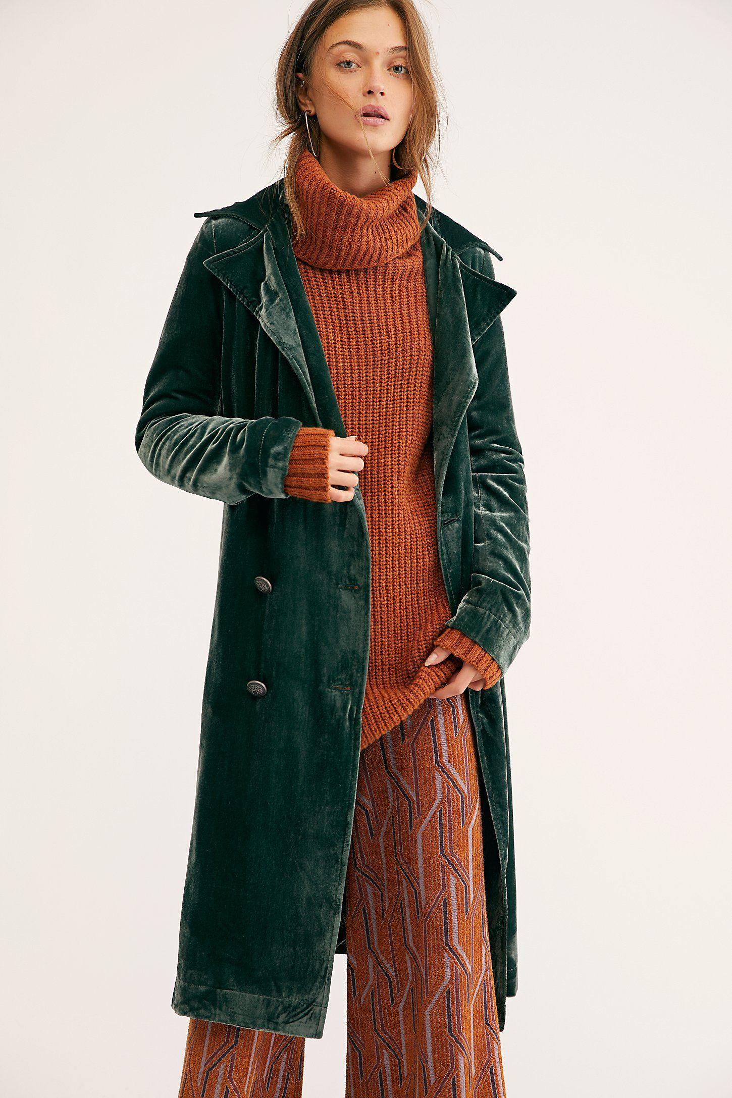 Bryant Velvet Trench Coat Velvet Coat Women Womens Dress Coats Velvet Coat Outfit