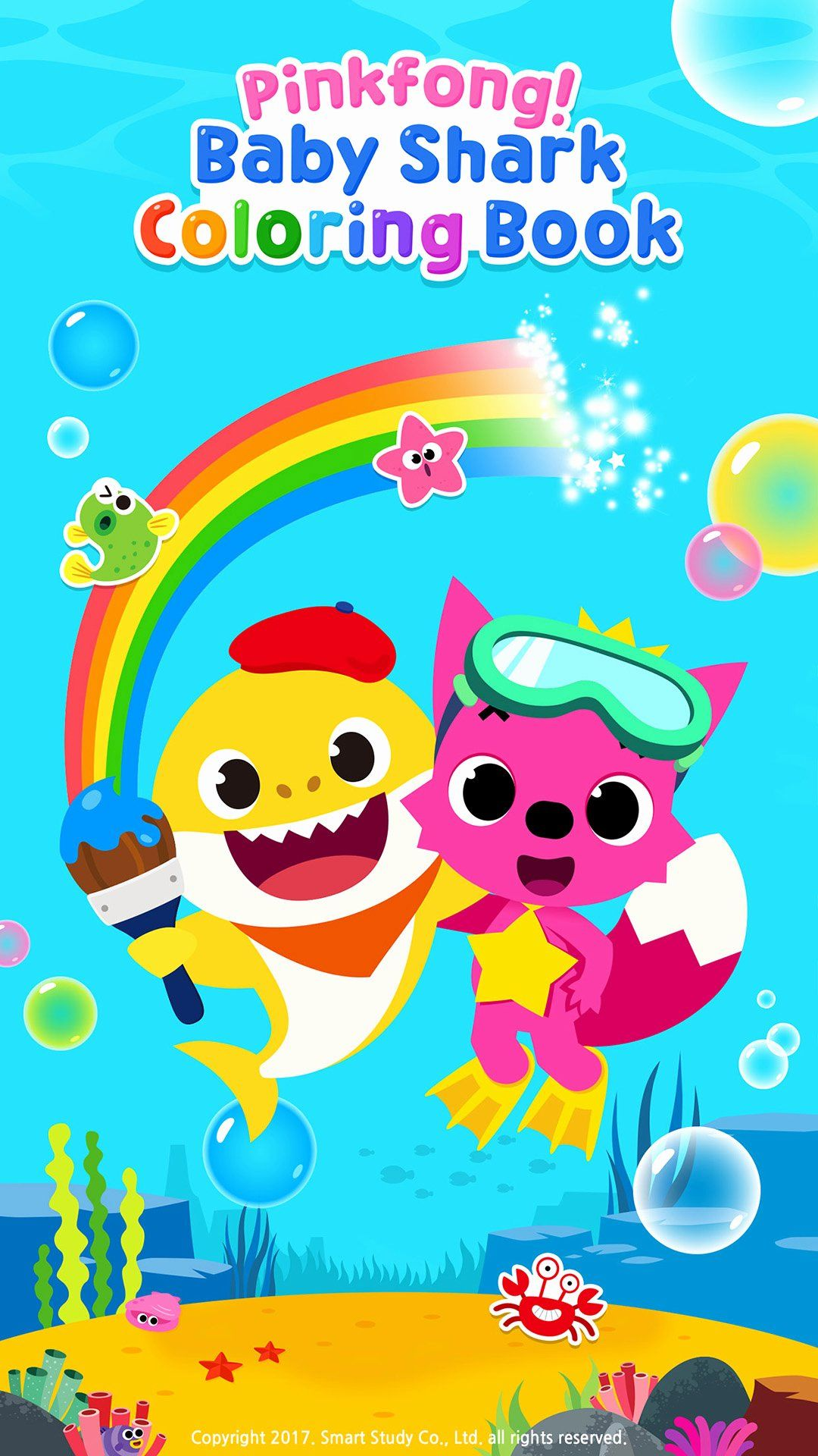 Coloring Book For Baby Beautiful Pinkfong Baby Shark Coloring Book Amazon Apps Fur Android In 2020 Coloring Books Toddler Coloring Book Shark Birthday Invitations