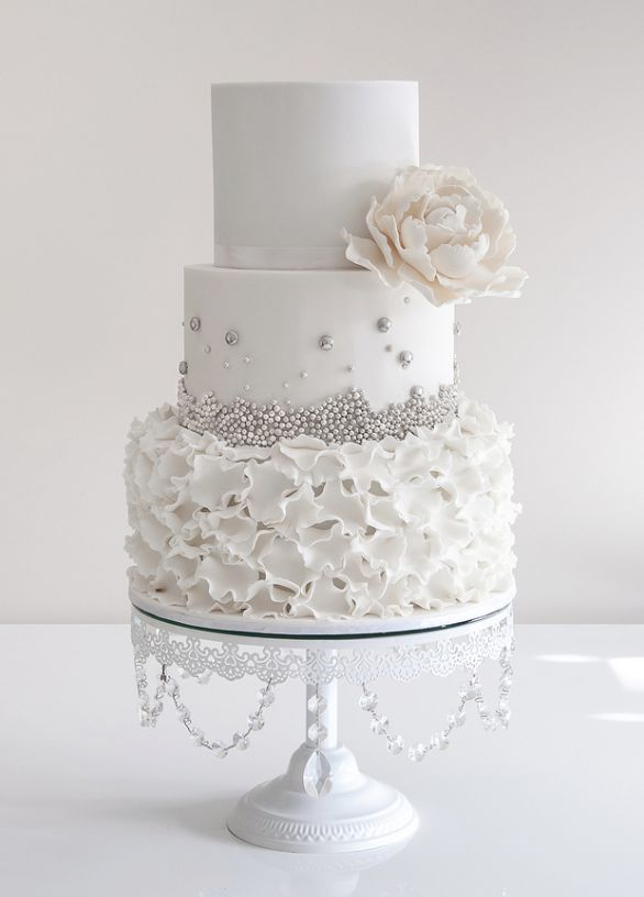 30 delicate white wedding cakes white wedding cakes wedding 30 delicate white wedding cakes junglespirit Image collections