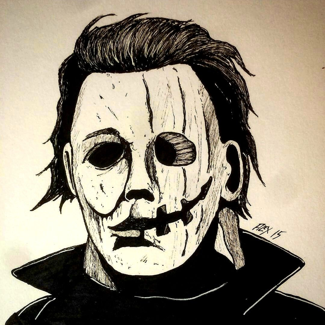 Michael Myers Is Halloween Horror Drawing Horror