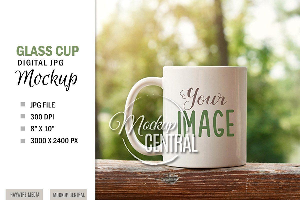 Coffee Glass Cup Mug Mockup JPG in 2020 Glass cup, Mugs