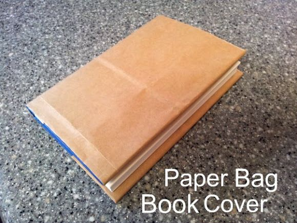 how to make a paper bag book cover