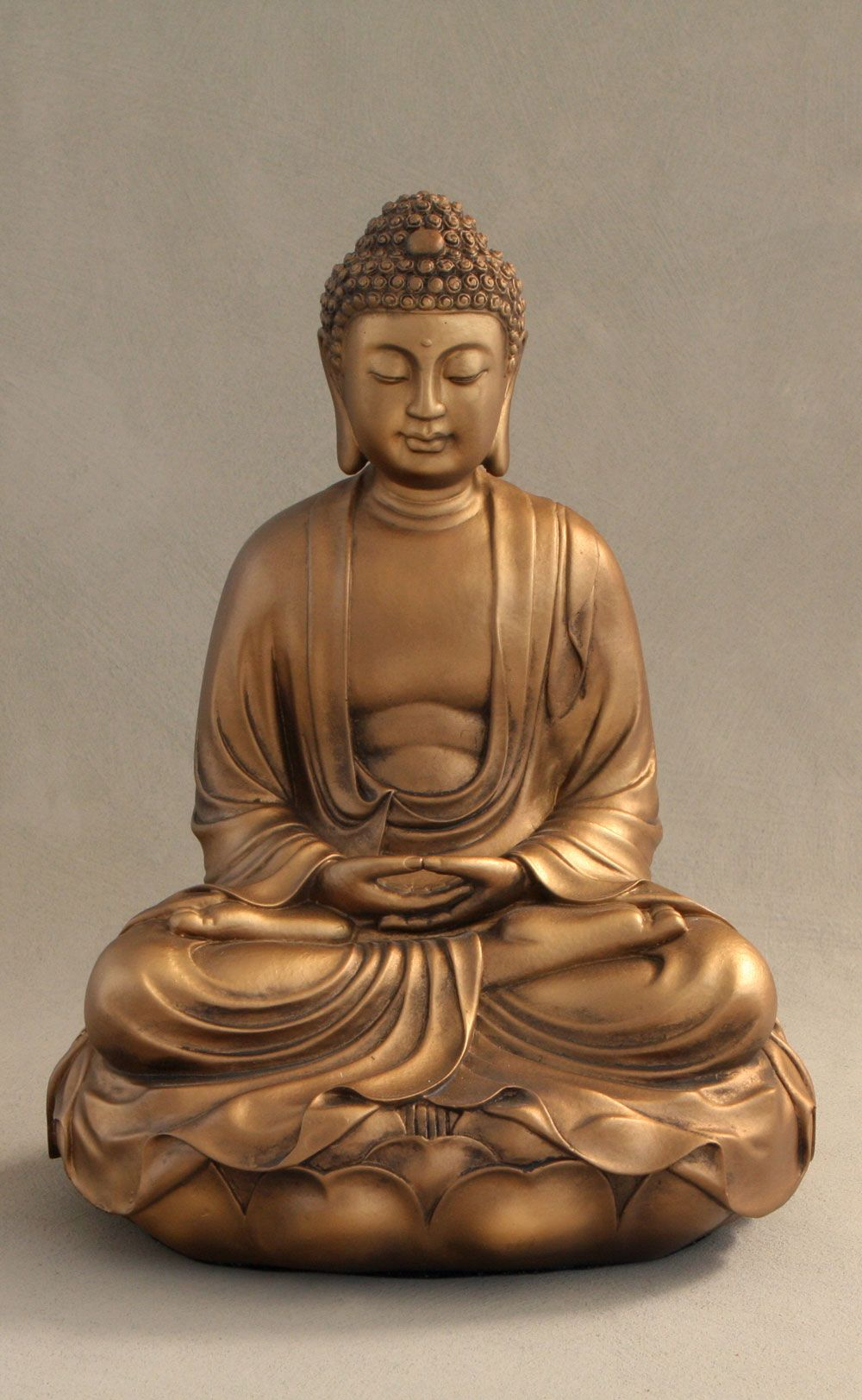 Buddha On Lotus Statue In Bronze Color 11 5 Inches Buddha Statue Decor Buddha Buddhism Statue