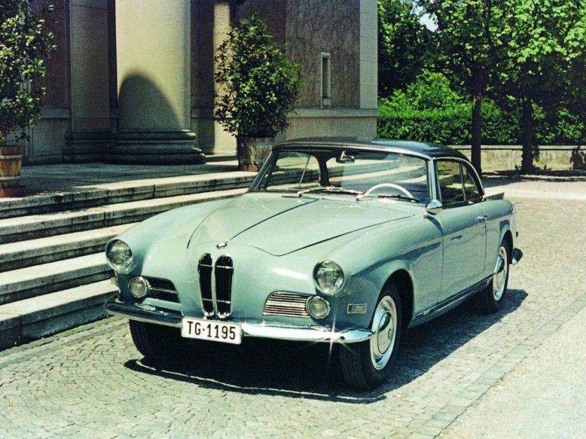 BMW 503. Introduced in 1955 with a 3.2 litre V8, 140bhp and a top ...