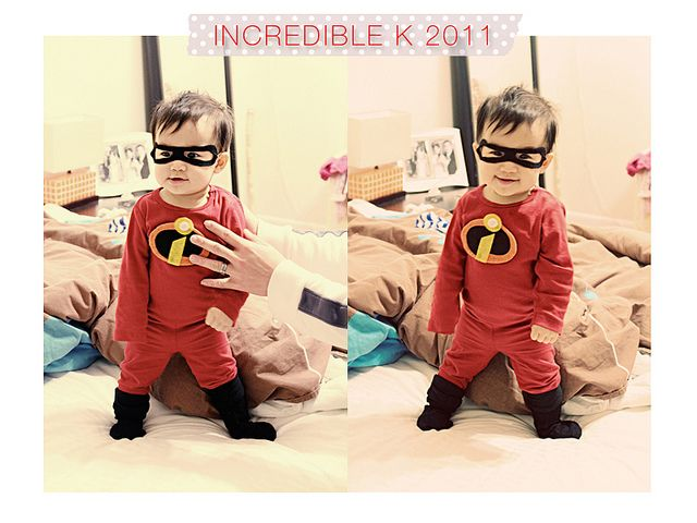 super easy diy last minute the incredibles halloween costume for babies or toddlers - Last Minute Toddler Halloween Costumes