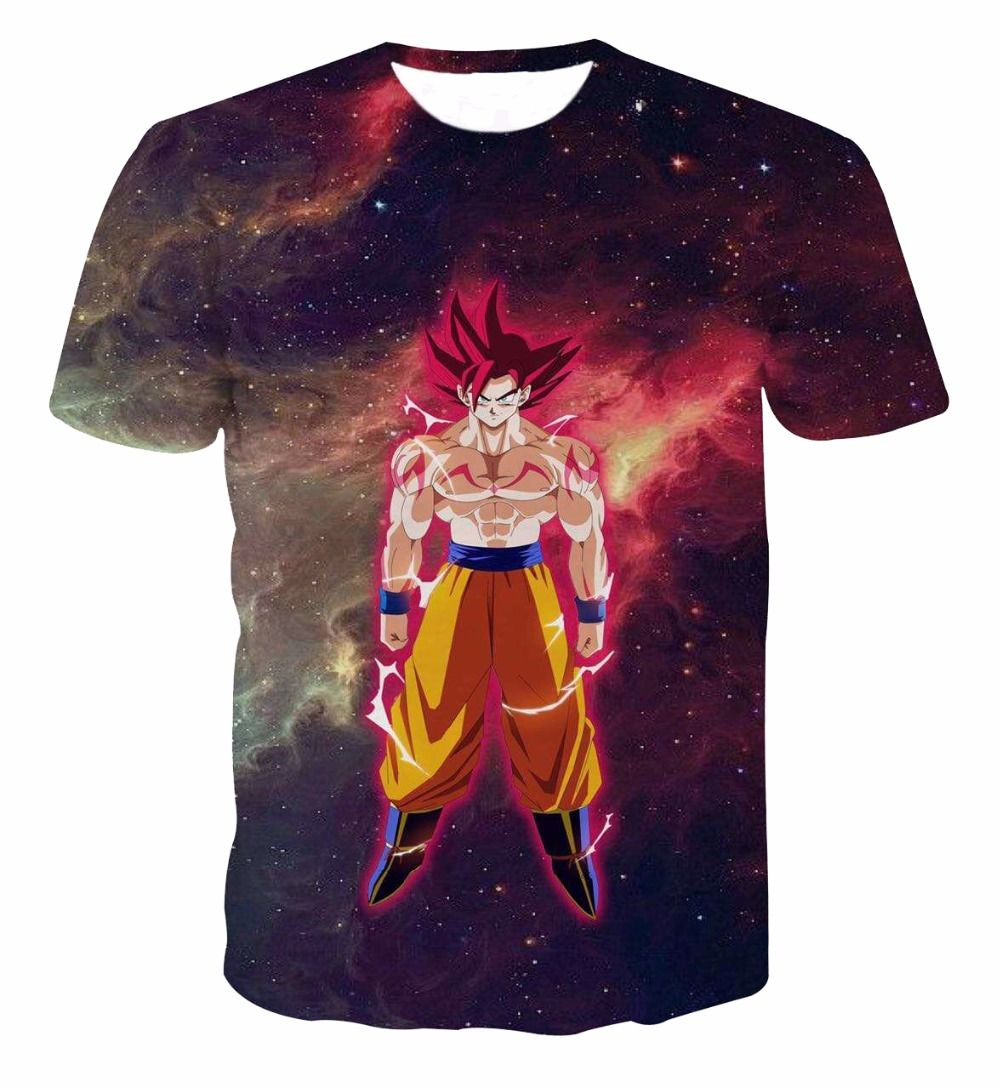 89d0ce59190 Anime Dragon Ball Z Goku 3D T Shirts Men/Boy Super Saiyan //Price: $20.98 &  FREE Shipping //