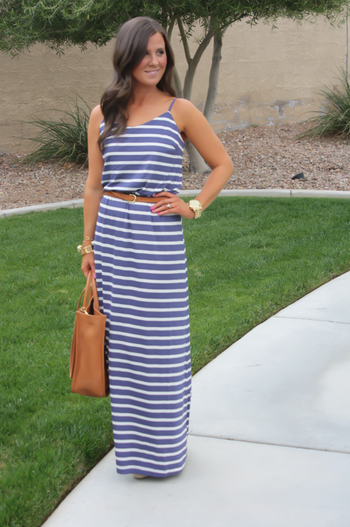 382b2deed Gap Striped Maxi Dress, Blue Stripes, Summer, Madewell Tote 2 | Maxi ...