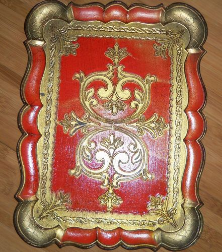 Florentine tole tray..love it