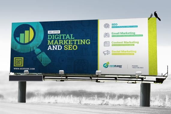 Signage SEO-Search Engine Optimization and Digital Marketing Agency Billboard, Rollup Banner, Shop Sign, Promotional Counter, Location Board