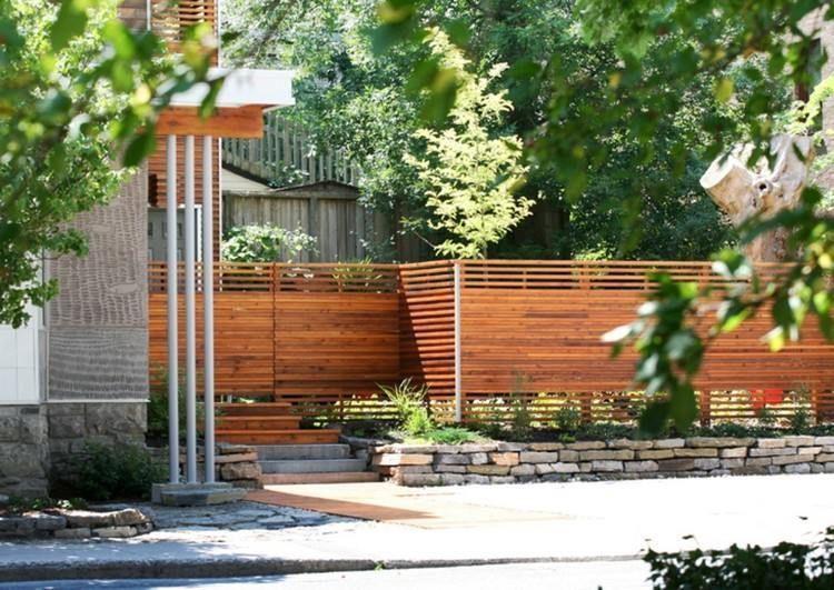 Modernistic Wooden Garden Fence Gardenfences Gartenzaun Ideen Zaun Selbstgemacht Zaun Dekorationen