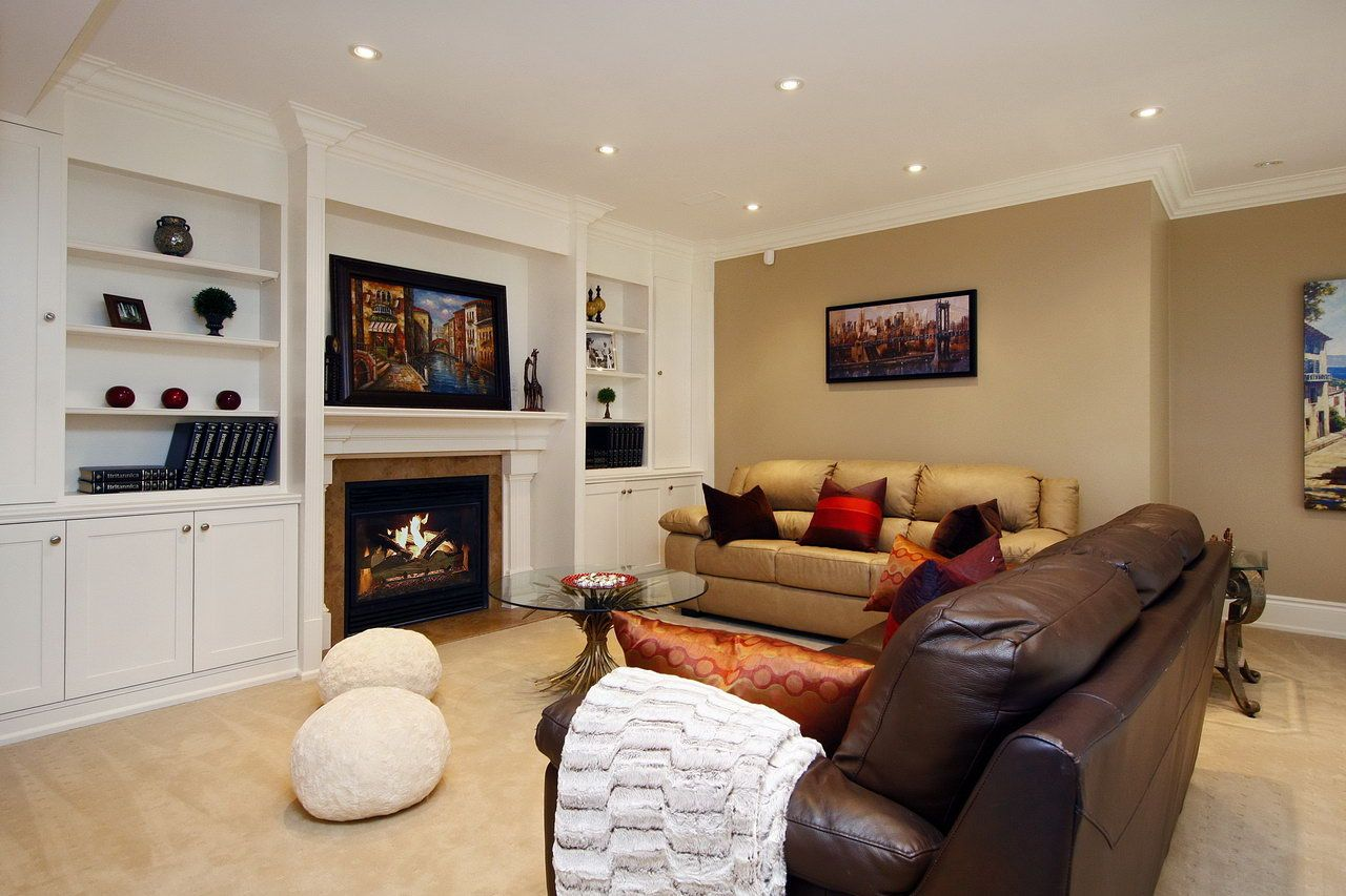 Basement Fireplace And Built-ins