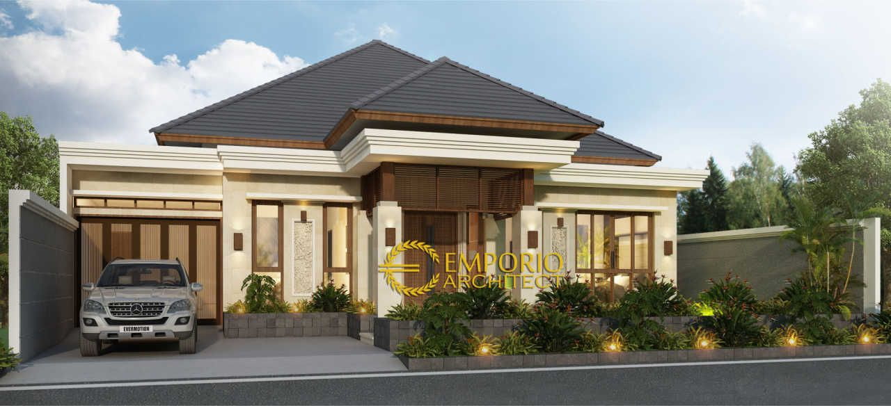 Desain Rumah Villa Bali 1 Lantai Bapak Indra Di Pekanbaru Riau Jasa Arsitek Desain Rumah Berkualitas Desain Villa Bali Modern Pr Desain Rumah Arsitek Rumah