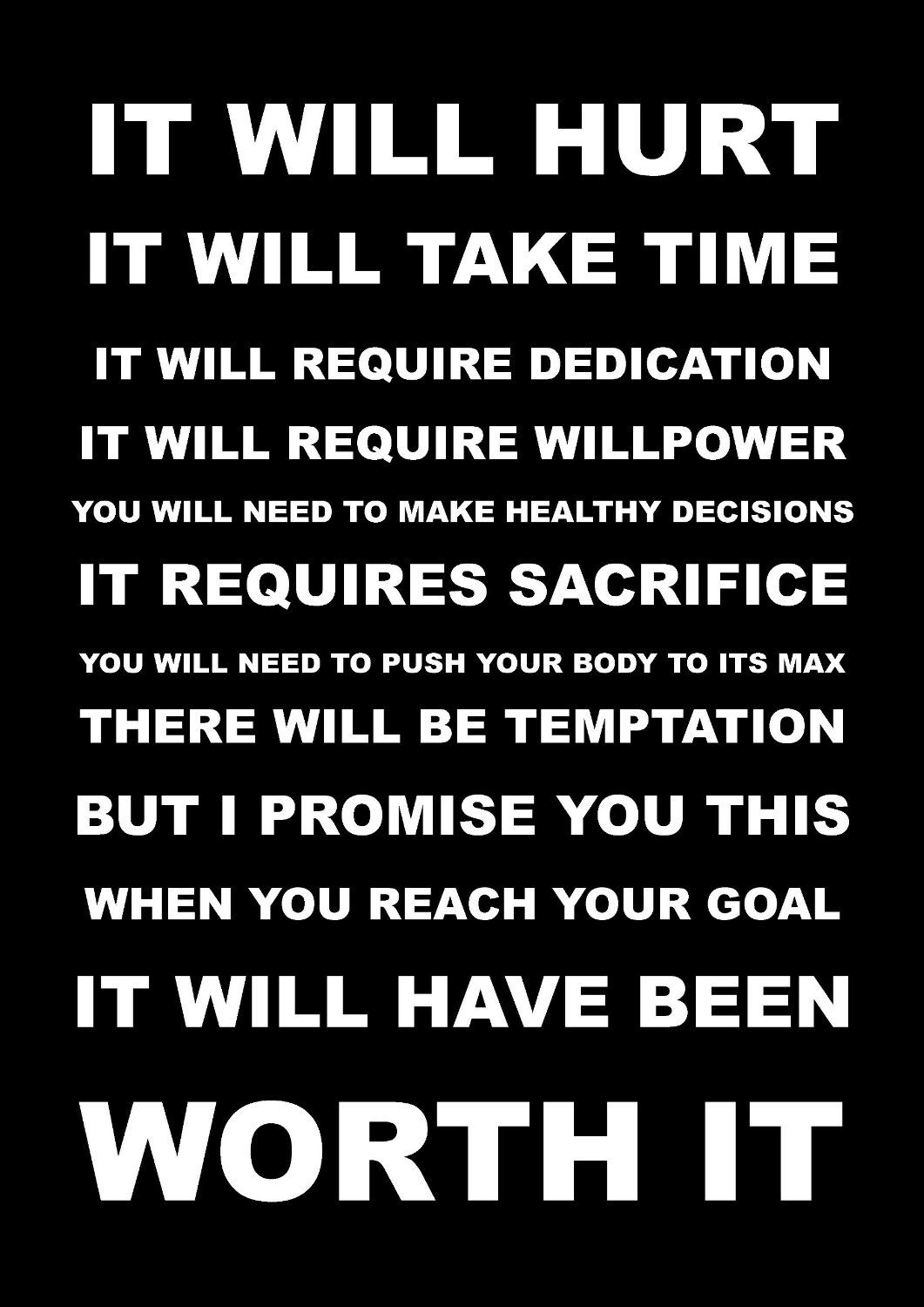 Inspirational Motivational Quote Sign Poster Print Picture It Will Hurt Spo Motivational Quotes For Working Out Inspirational Quotes Motivation Athlete Quotes