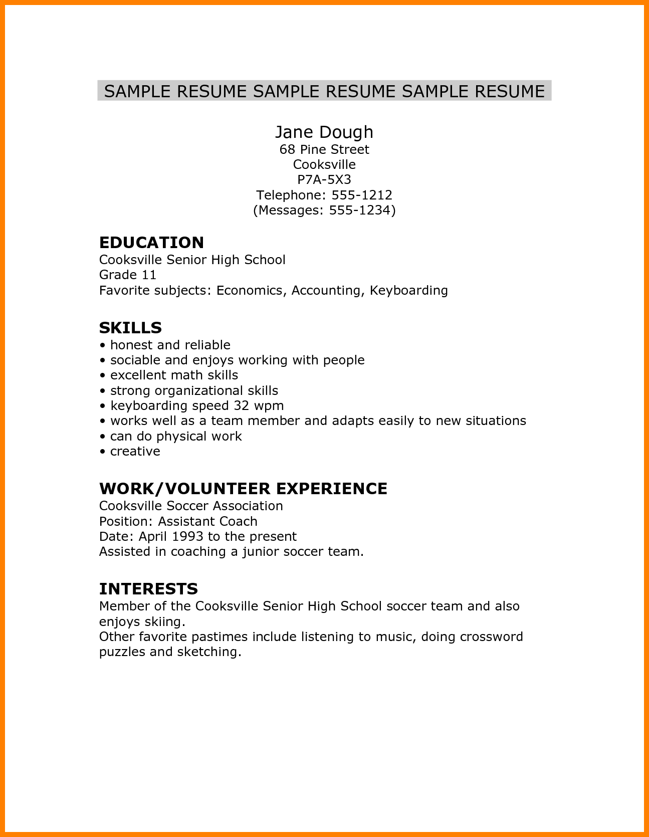 5 Cv Template For High School Student Theorynpractice Wonderful 5 Cv Template For High School High School Resume High School Resume Template Student Resume