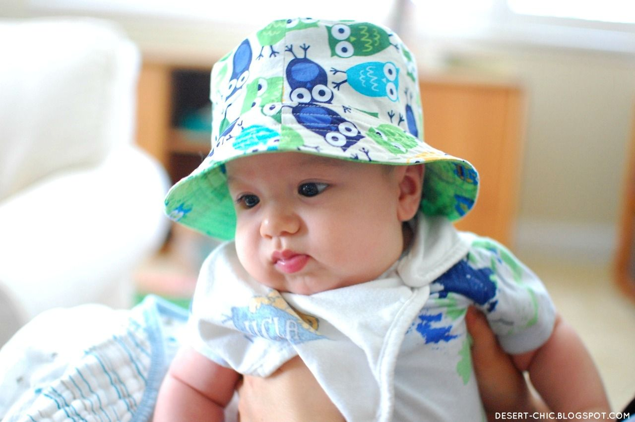 53ca6012b3a83 free sewing baby hat patterns | This adorable baby says Happy August ...