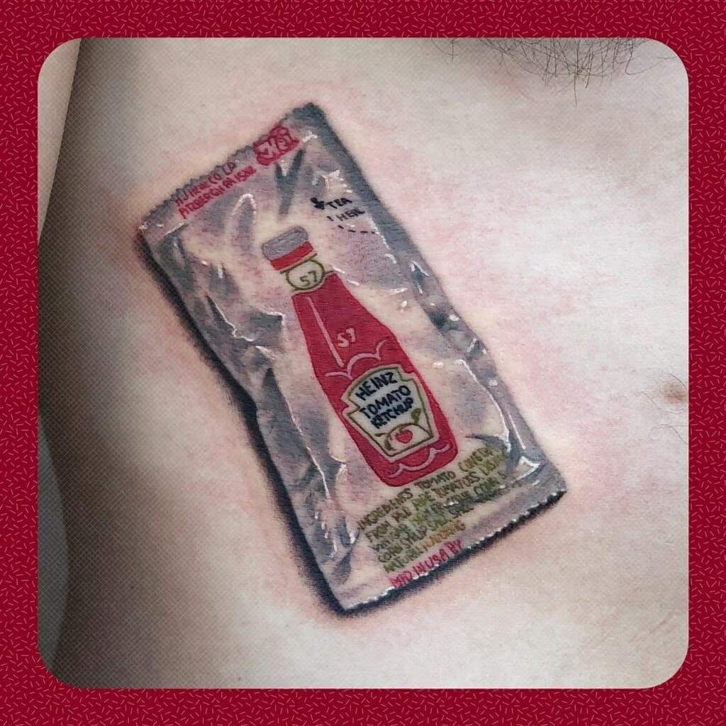 Ketchup done by sampson hurley at alchemist tattoo in