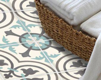 Tile sticker kitchen bath floor wall waterproof & removable peel