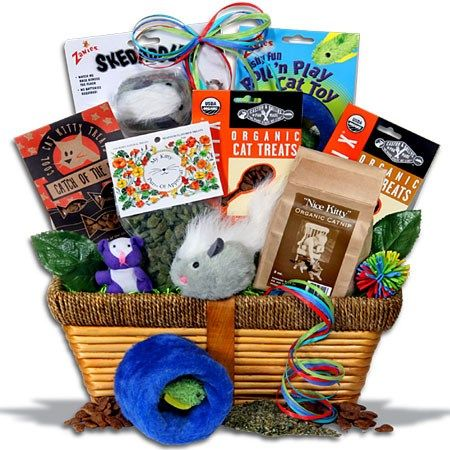 Pampered Cat Gift Basket™: Cat Gift Baskets, Cat Lover Gift Baskets, Pet Gift Baskets, Cat Owner Gifts, Cat Gifts