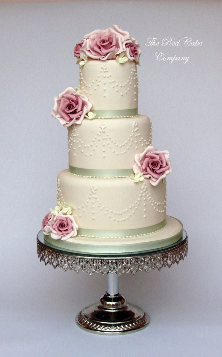 Dusky Pink Rose Wedding Cake | Wedding cakes | Pinterest | Rose ...