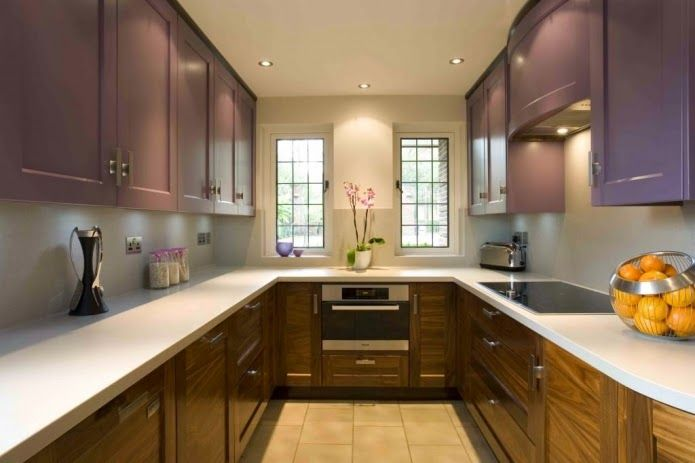 Narrow Kitchen Designs Long Narrow Kitchen With Two Windows