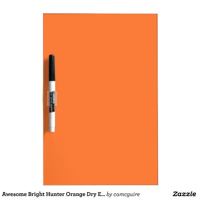 Awesome Bright Hunter Orange Dry Erase Board