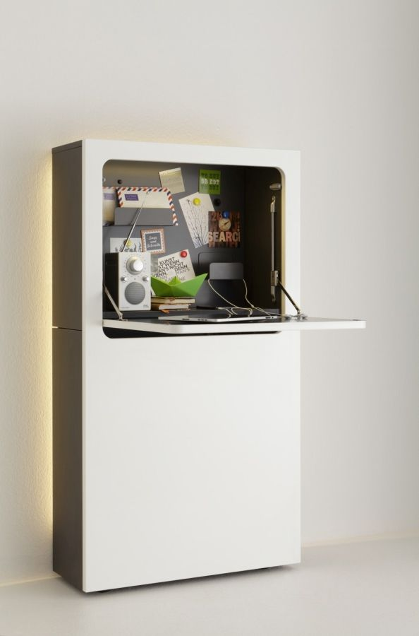 Urban Favourites Sekretär Design Möbel Schreibtisch Regal Schrank - designer mobel bucherregal
