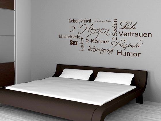 wandtattoo wandsprche schlafzimmer liebe herz sex humor beziehung paare wanddeko - Wandspruche Furs Schlafzimmer