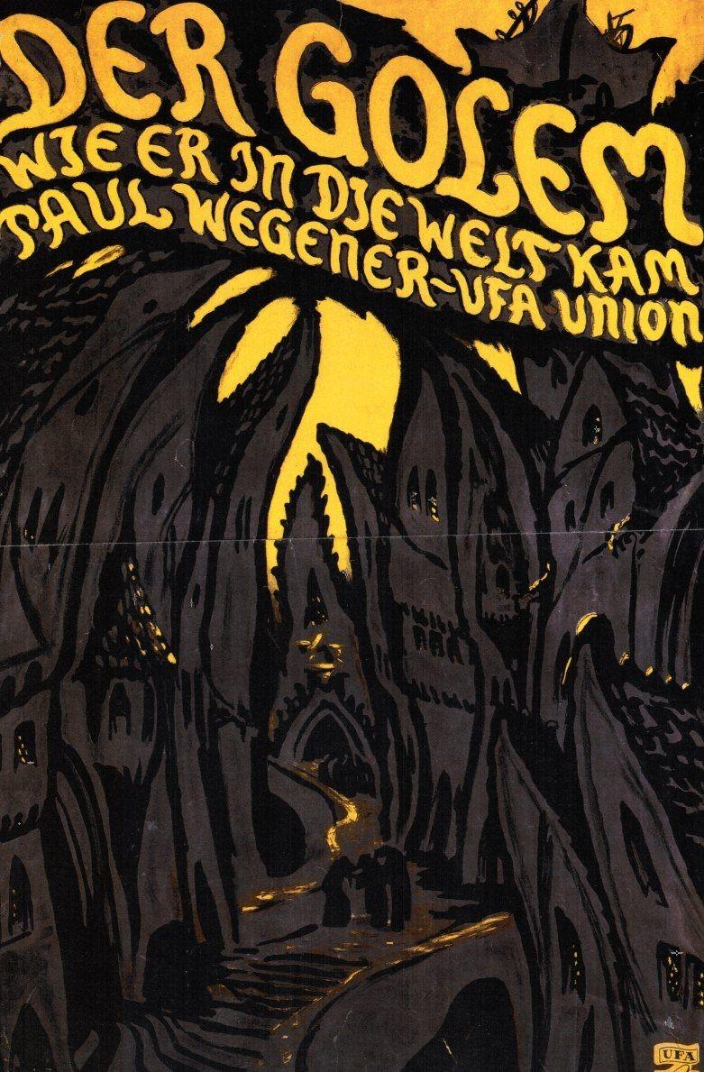 Poster art and set designbyHans Poelzig for The Golem (1920).