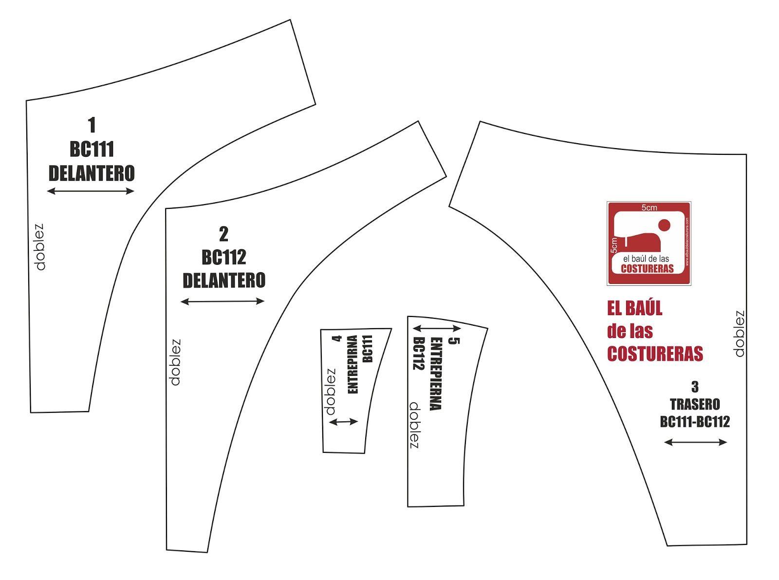 Pantaleta Bikini BC111 BC112 | Ropa Interior | Sewing, Sewing ...