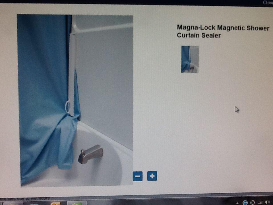 P A D Magna Lock Magnetic Shower Curtain Sealer Diy Crafts