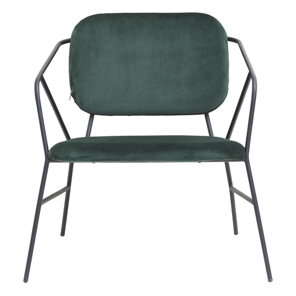 Klever Velvet Lounge Chair Green | House doctor, Chair ...